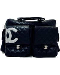 e11f18cae576 Lyst - Chanel Pre-owned Cambon Leather Crossbody Bag in White