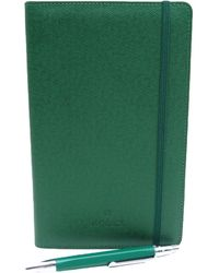 Rolex - Green Leather Home Decor - Lyst