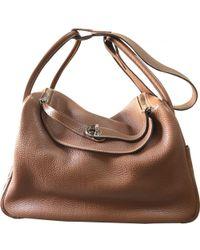 Hermès - Lindy Brown Leather Handbag - Lyst