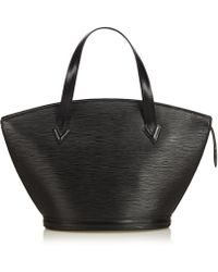 Louis Vuitton - Pre-owned St Jacques Black Leather Handbags - Lyst