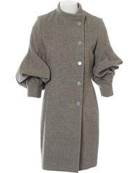 Stella McCartney - Grey Wool Coat - Lyst