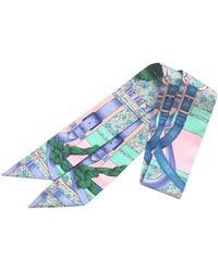 Hermès - Twilly Blue Silk - Lyst