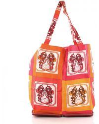 cff09a924517 Lyst - Hermès Pre-owned Silky Pop Silk Handbag in Pink