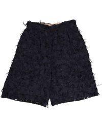 Chloé - Navy Synthetic Shorts - Lyst