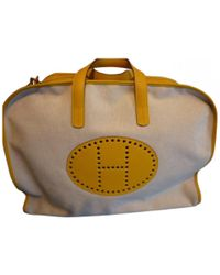 Hermès | Yellow Leather Travel Bag | Lyst