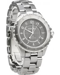 Chanel - J12 Automatique Grey Ceramic Watches - Lyst