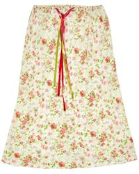 Etro - Silk Mid-length Skirt - Lyst