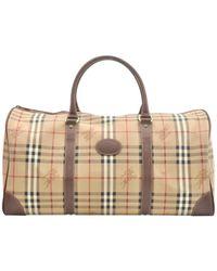 Burberry Beige Cloth Handbag - Natural