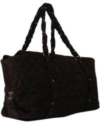 80222cc51b8 Lyst - Sac à main en cuir Chanel en coloris Noir