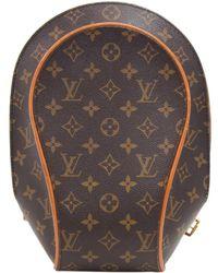 Louis Vuitton - Pre-owned Vintage Ellipse Brown Cloth Backpacks - Lyst