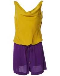 8117c70b2e06 Diane von Furstenberg - Pre-owned Yellow Silk Jumpsuits - Lyst