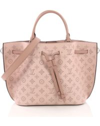 Louis Vuitton - Pre-owned Girolata Pink Leather Handbags - Lyst