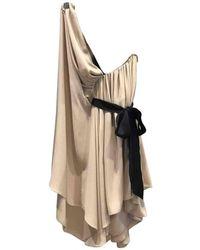 Lanvin - Pre-owned Silk Mid-length Dress - Lyst