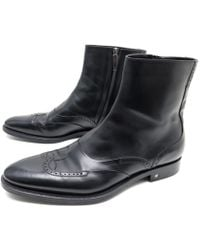 2a1997c43f66 Lyst - Louis Vuitton Leather Biker Boots in Blue