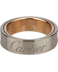 Cartier - C White Gold Ring - Lyst