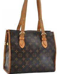 Louis Vuitton - Popincourt Brown Cloth Handbag - Lyst