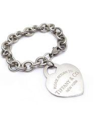 Tiffany & Co. - Pre-owned Return To Tiffany Silver Bracelet - Lyst