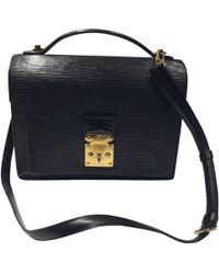 Louis Vuitton - Pre-owned Vintage Monceau Black Cloth Handbag - Lyst