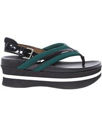 c2ae4e84a45d9d Marni - Pre-owned Black Leather Sandals - Lyst