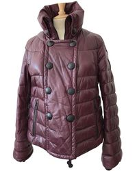f8b5053771a0 Lyst - Women s Moncler Leather jackets On Sale