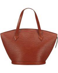 Louis Vuitton - Vintage St Jacques Brown Leather Handbag - Lyst