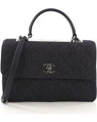 Chanel - Coco Handle Blue Denim - Jeans - Lyst