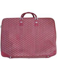 Goyard - Leather Travel Bag - Lyst