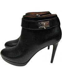 Givenchy - Pre-owned Black Leather Ankle Boots - Lyst
