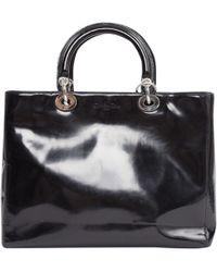 Dior - Lady Black Patent Leather Handbag - Lyst