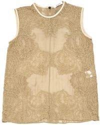 Givenchy - Beige Silk Top - Lyst
