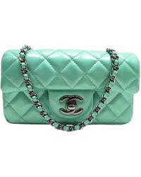 Chanel Pre-owned 2.55 Patent Leather Crossbody Bag in Green - Lyst d5053e8844088