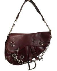 Dior - Pre-owned Vintage Saddle Red Leather Handbags - Lyst 9c013388ef963