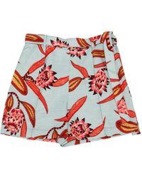 Hermès - Blue Cotton Shorts - Lyst