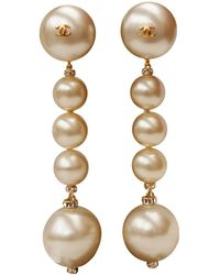 Chanel - Vintage Other Pearl Earrings - Lyst