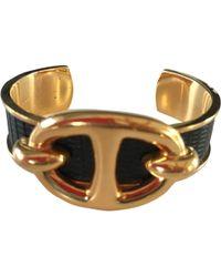 Hermès - Pre-owned Vintage Chaîne D'ancre Gold Leather Bracelets - Lyst