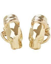 Cartier - Panthère Yellow Gold Earrings - Lyst