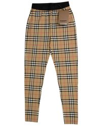 Burberry Brown Synthetic Pants