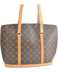 Louis Vuitton - Vintage Babylone Brown Cloth Handbag - Lyst