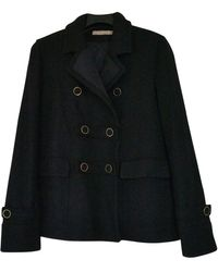 Sandro - Black Wool Coats - Lyst