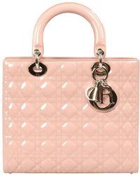 Dior - Lady Pink Leather Handbag - Lyst