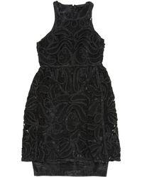 5e5f5fd95a6f Fendi Ff Logo Knit Midi Dress Black white in Black - Lyst