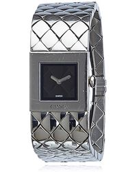 Chanel - Matelassée Silver Steel Watches - Lyst
