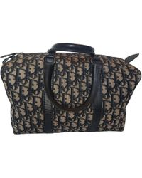 Dior - Pre-owned Cloth Travel Bag - Lyst