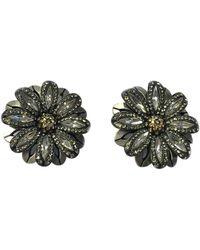 Lanvin - Silver Metal Earrings - Lyst