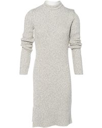 Céline - Grey Cotton Dress - Lyst