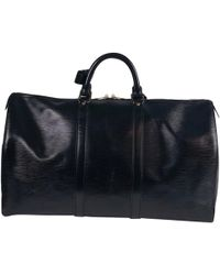 Louis Vuitton - Keepall Leather Weekend Bag - Lyst