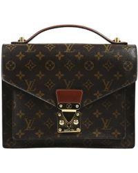 Louis Vuitton - Monceau Cloth Handbag - Lyst