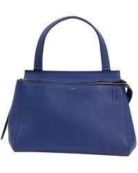 Céline Edge Blue Leather Handbag