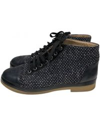 Chanel - Cloth Snow Boots - Lyst