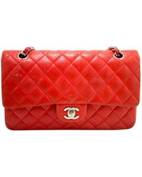 e6722a7b478d Chanel - Timeless/classique Red Leather Handbag - Lyst